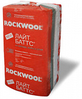 Утеплитель ROCKWOOL LIGHT BATTS / РОКВУЛ ЛАЙТ БАТТС (1000x600x100 мм / 2.4 м2 / 0.3 м3 / 4 шт)